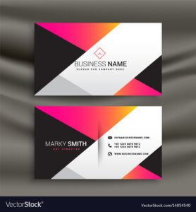 Creative Bright Business Card Design Template for Calling Card Free Template