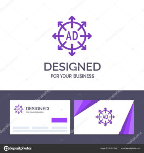 Creative Business Card And Logo Template Advertising for Advertising Card Template