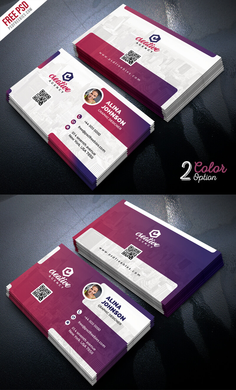 Creative Business Card Template Psd Set | Psdfreebies With Regard To Creative Business Card Templates Psd