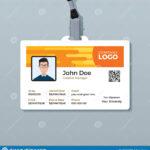 Creative Employee Id Card Design Template Stock Vector Regarding Company Id Card Design Template