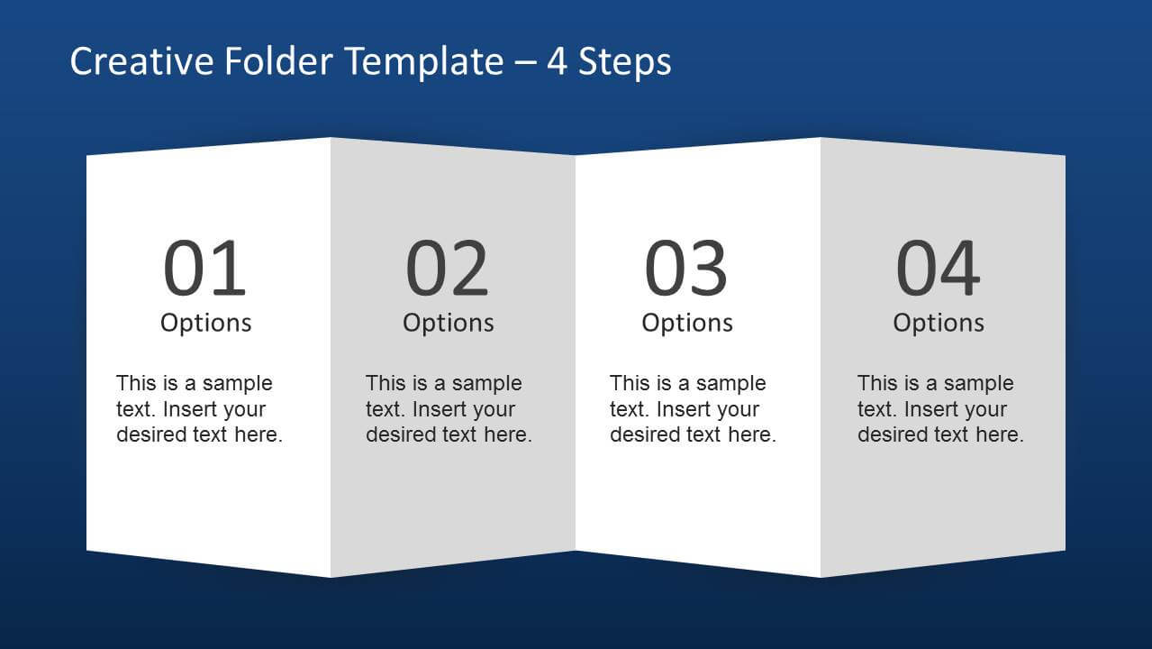 Creative Folder Paper With 4 Fold Brochure - Slidemodel Within Brochure 4 Fold Template