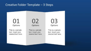 Creative Folder Template Layout For Powerpoint Throughout 4 Fold Brochure Template