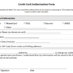 Credit Card Authorization Form Templates [Download] for Credit Card Billing Authorization Form Template