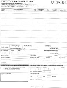 Credit Card Order Form | June Chan's Frontier Network with Order Form With Credit Card Template
