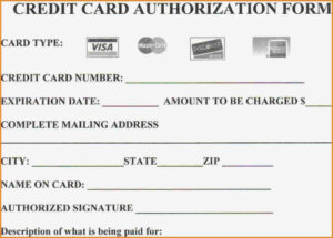 Credit Card Payment Form Pdf Template Australia inside Credit Card Authorisation Form Template Australia