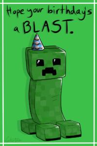 Creeper Birthday Cardlucieniibi.deviantart On regarding Minecraft Birthday Card Template