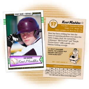 Custom Baseball Cards – Retro 50™ Series Starr Cards in Custom Baseball Cards Template