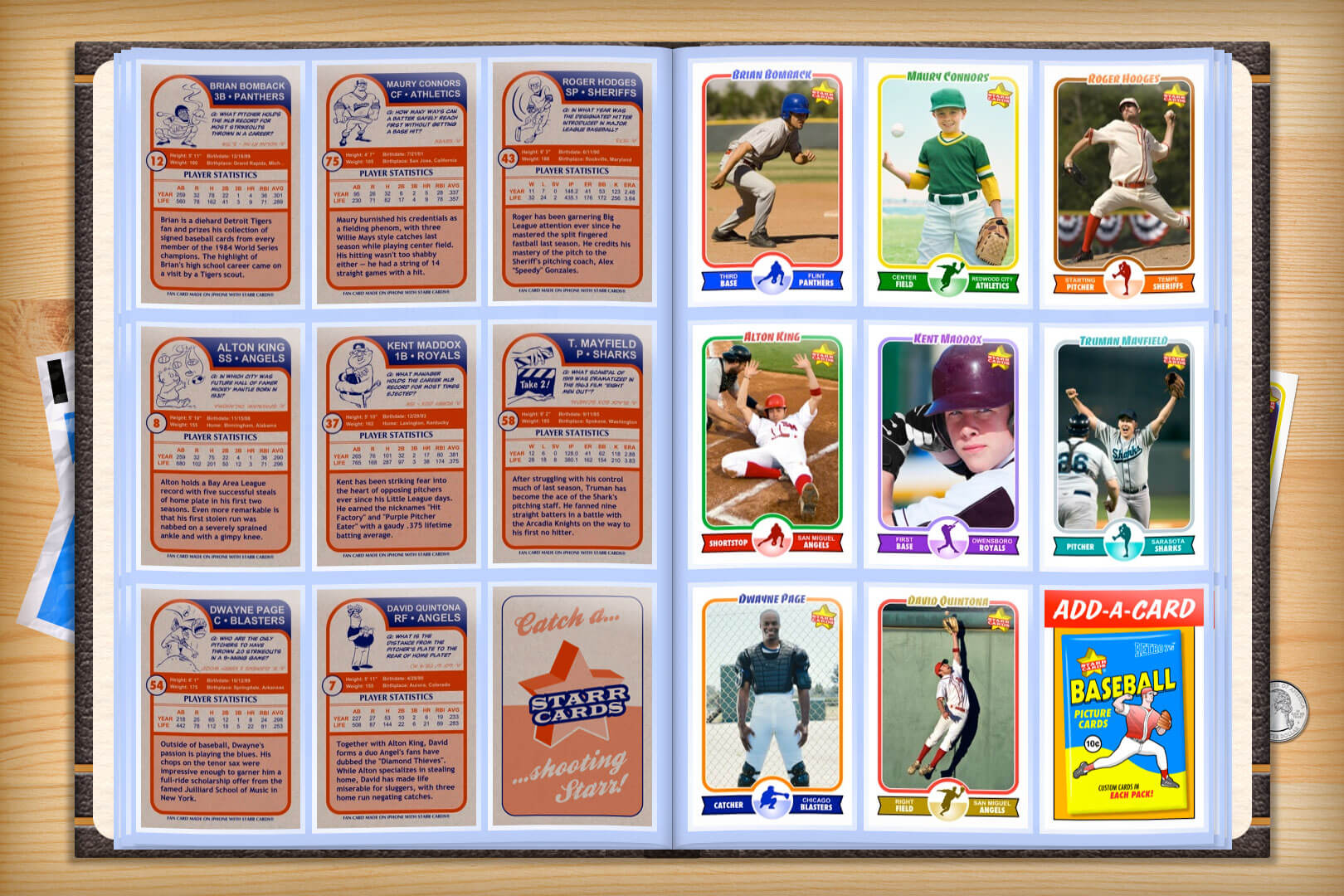 Custom Baseball Cards - Retro 75™ Series Starr Cards Inside Custom Baseball Cards Template