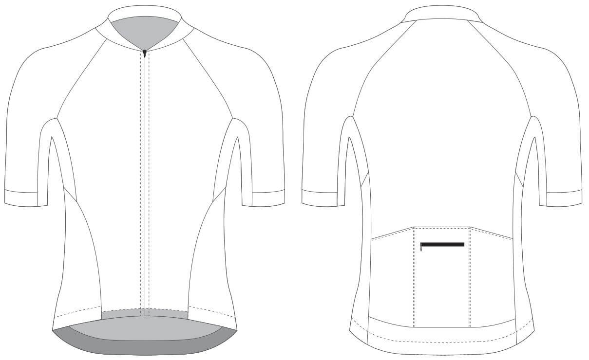Custom Blank Cycling Jersey Design Template - Cyclingbox Throughout Blank Cycling Jersey Template