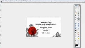 Custom Business Card In Gimp 2.8The Gimpwimp throughout Gimp Business Card Template