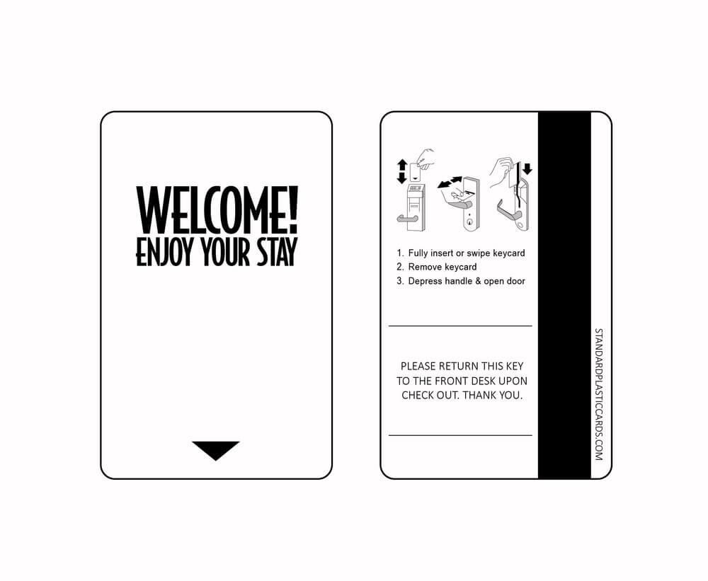 Custom & Generic Magnetic Key Cards | Custom Hotel Key Cards Pertaining To Hotel Key Card Template