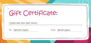 Custom Gift Certificate Template – Hizir.kaptanband.co within Custom Gift Certificate Template