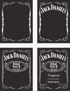 Custom Jack Daniels Label Template – Trovoadasonhos with Blank Jack Daniels Label Template