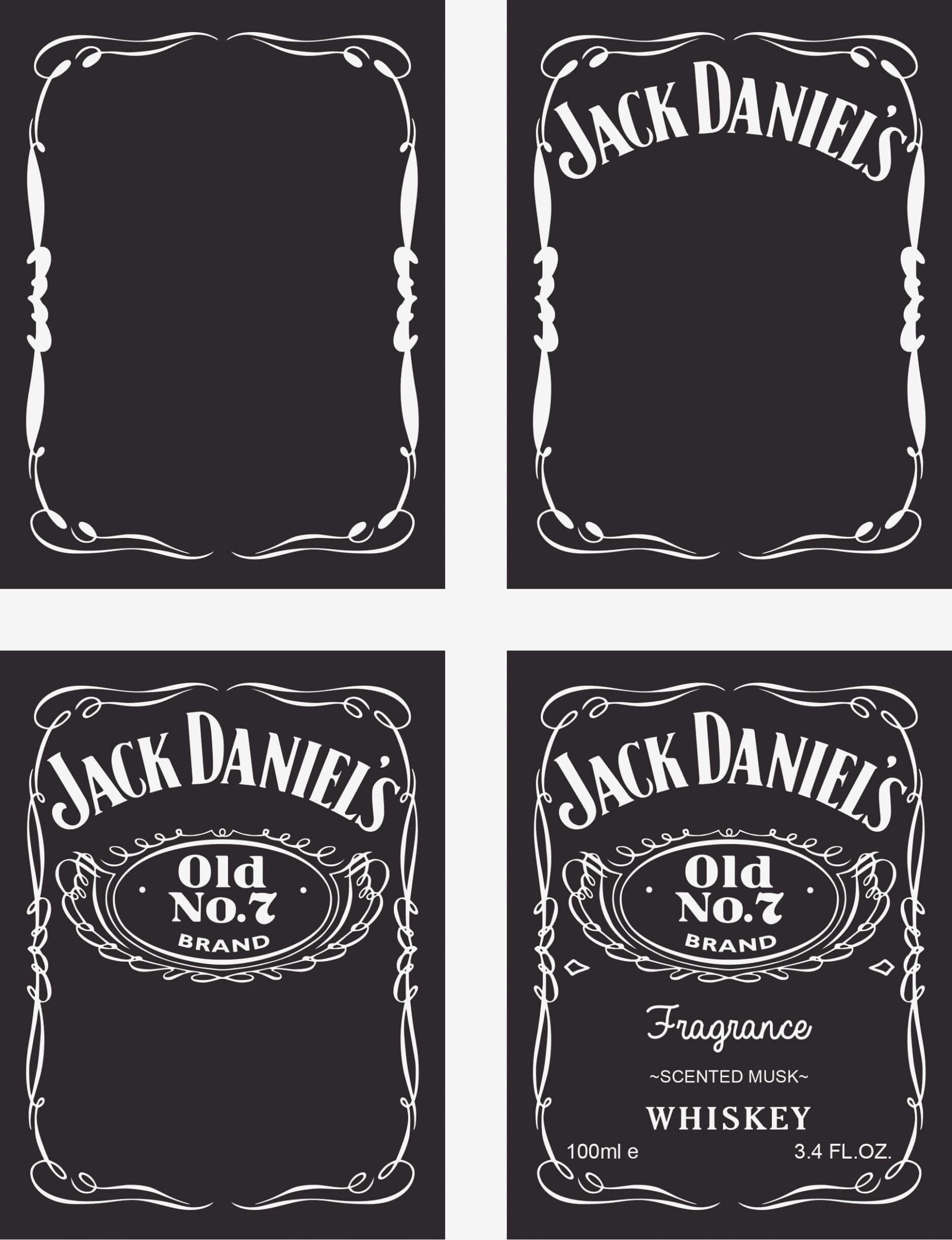 Custom Jack Daniels Label Template - Trovoadasonhos With Blank Jack Daniels Label Template