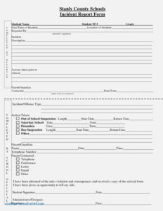 Customer Incident Report Form Template New Best S Of in Customer Incident Report Form Template