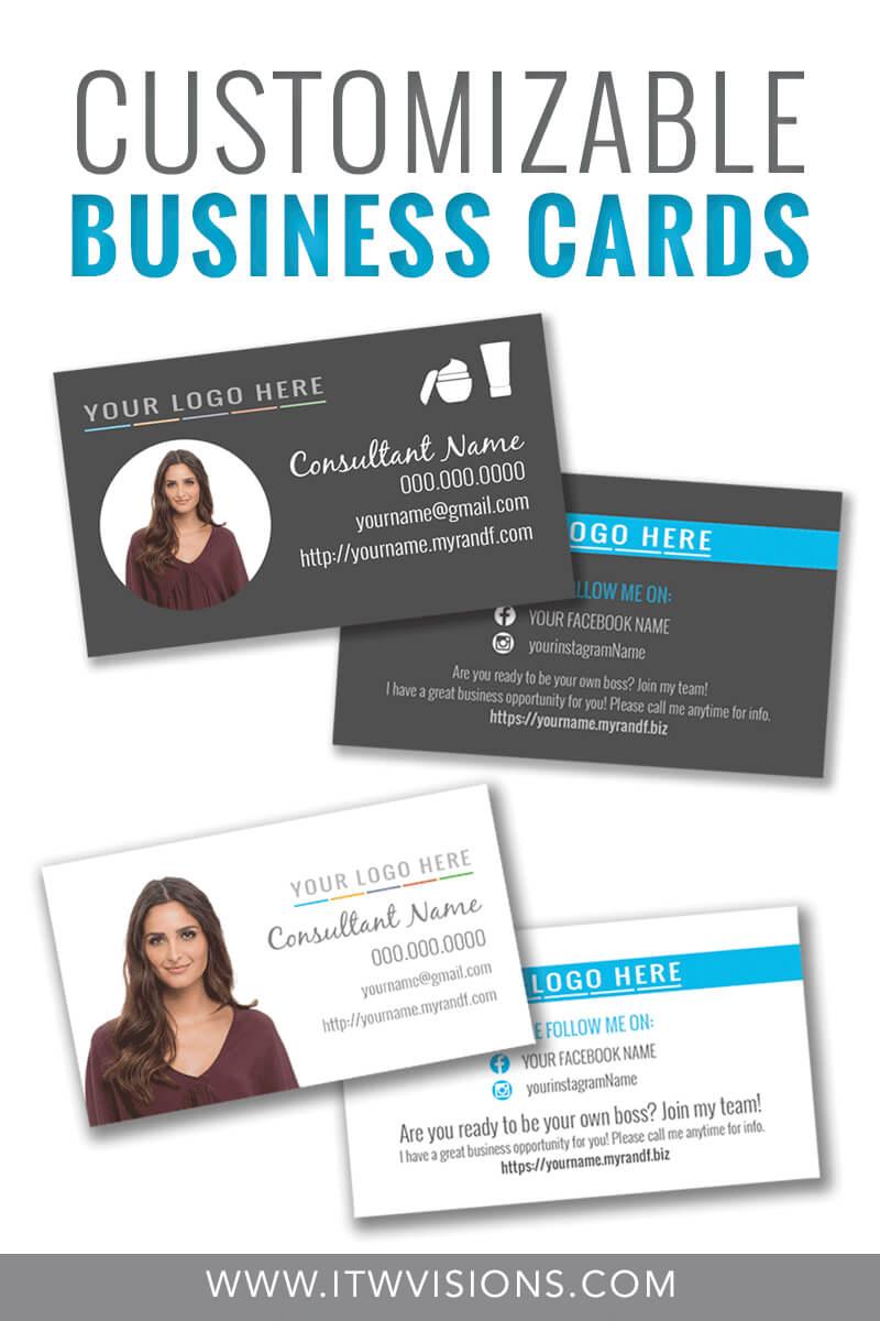 Customizable Business Card Templates For Rodan And Fields With Rodan And Fields Business Card Template