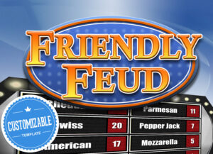 Customizable Friendly Feud Powerpoint Template – Family Feud Style Game  Show Mac Pc And Ipad Compatible inside Family Feud Powerpoint Template With Sound