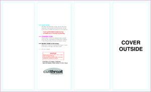 Cutthroat Printcustom Brochure Printing for 4 Panel Brochure Template