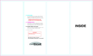 Cutthroat Printcustom Brochure Printing intended for Brochure Folding Templates