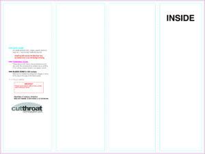 Cutthroat Printcustom Brochure Printing pertaining to 4 Panel Brochure Template