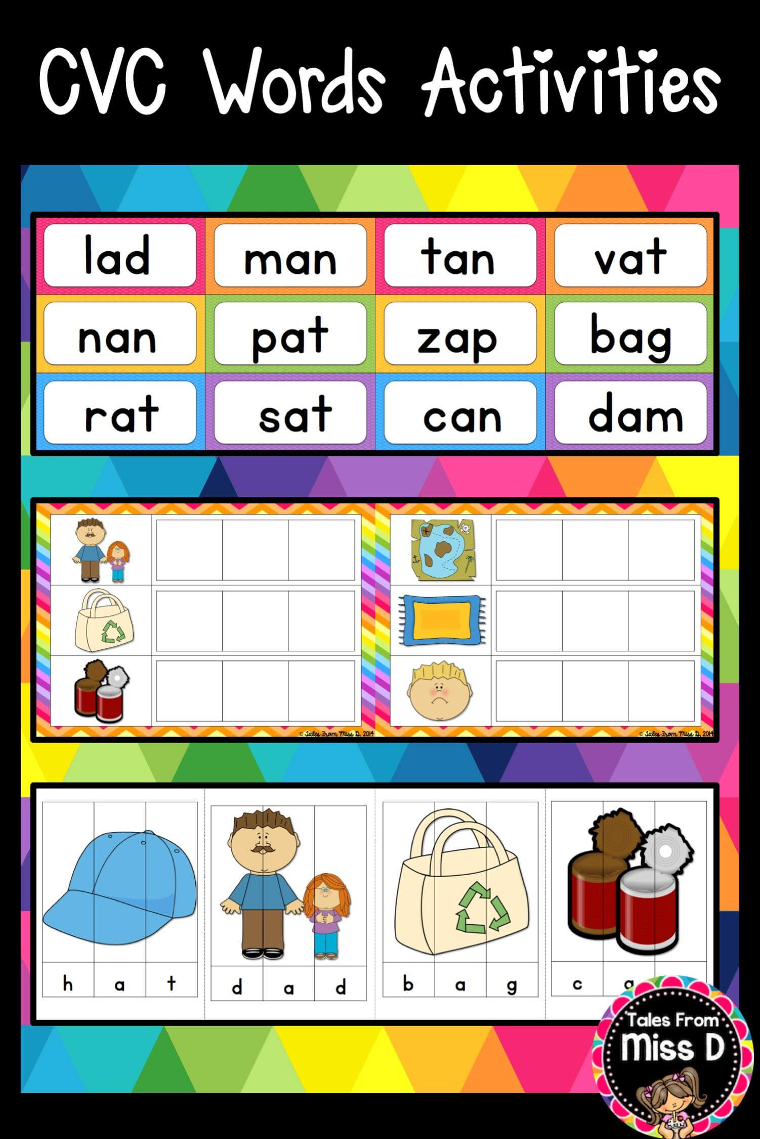 Cvc Words Activities | Education | Cvc Words, Making Words Pertaining To Making Words Template