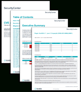 Cve Analysis Report – Sc Report Template | Tenable® with regard to Nessus Report Templates
