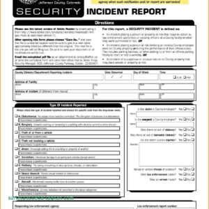 Cyber Security Incident Report Template Computer Response for Incident Report Template Itil