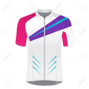 Cycling Jersey Mockup. T-Shirt Sport Design Template. Road Racing.. for Blank Cycling Jersey Template