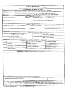 Da Form Imt Wf1, 2009 – Hurt Feelings Report Printable Pdf within Hurt Feelings Report Template