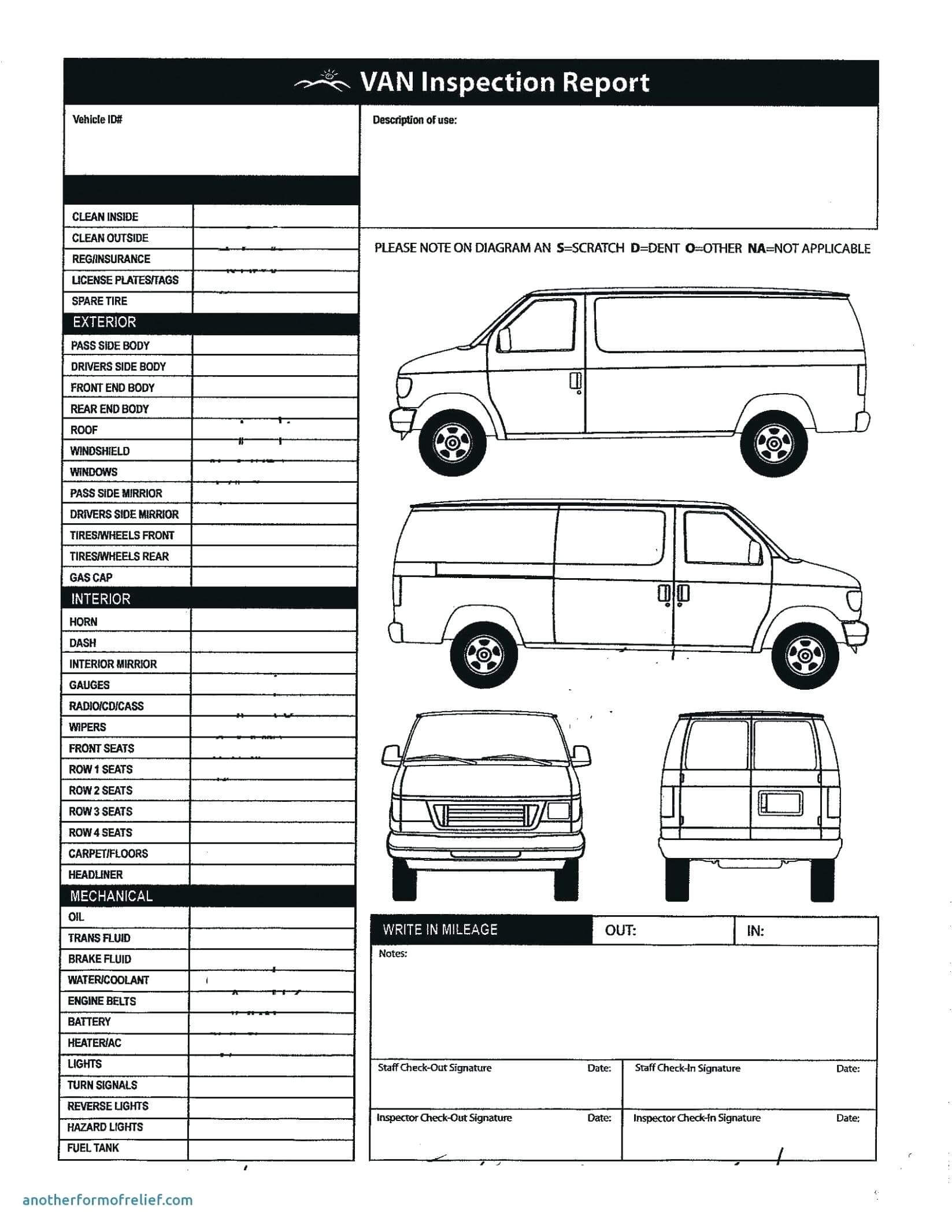 Damage Report Form Template – Verypage.co In Car Damage Report Template