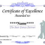 Dance Award Certificate Template | Places To Visit | Award Throughout Dance Certificate Template