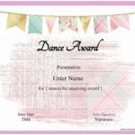 Dance Certificate Template In Dance Certificate Template