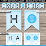 Dance Party Banner Template – Blue Inside Free Printable Party Banner Templates