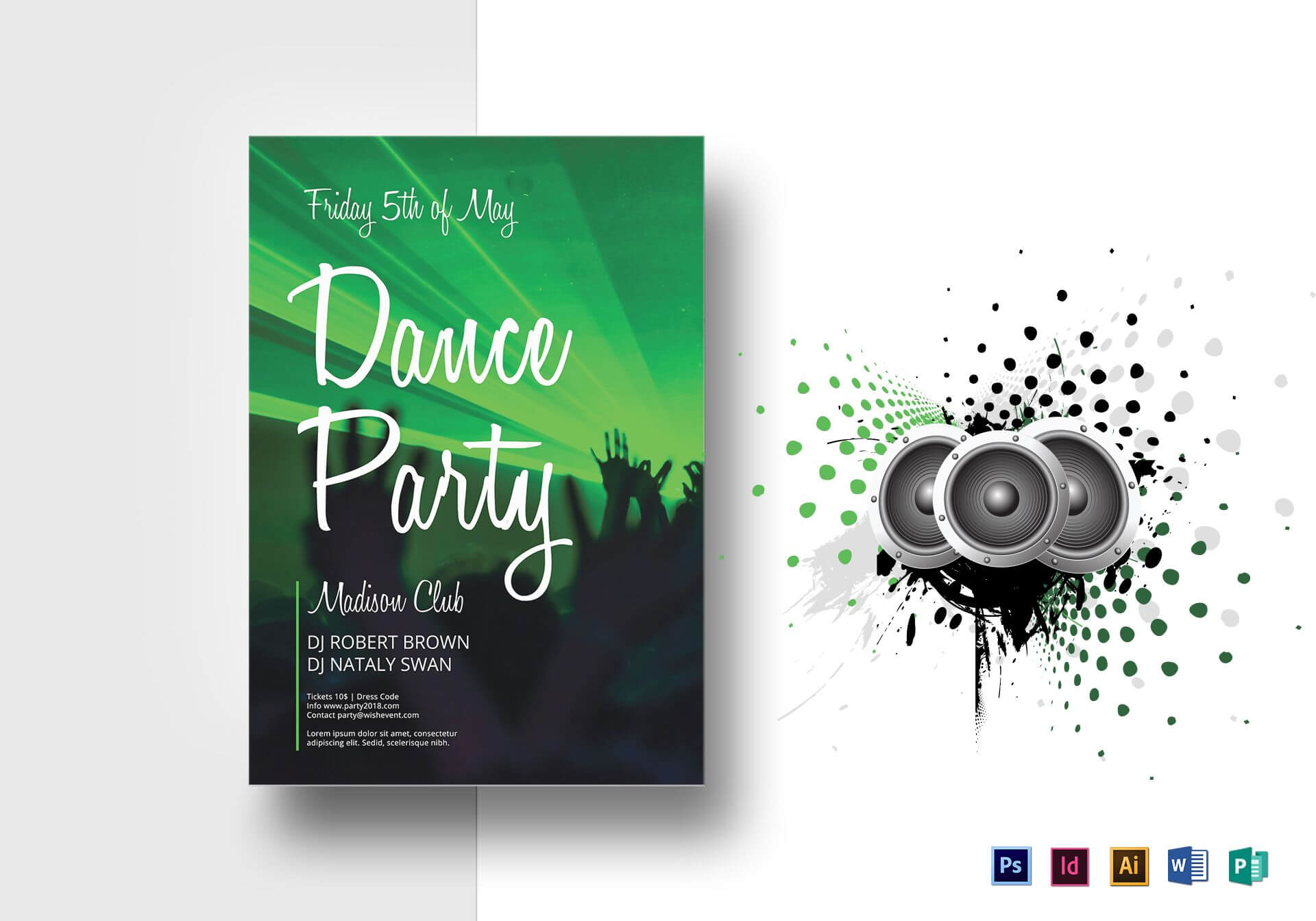Dance Party Flyer Template Within Dance Flyer Template Word