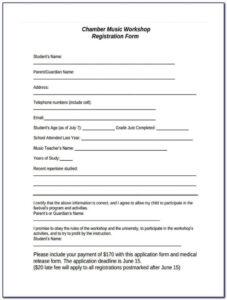 Dance Team Application Form Fill Online Printable inside School Registration Form Template Word