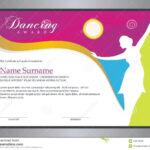 Dancing Award Stock Vector. Illustration Of Ballet Inside Dance Certificate Template