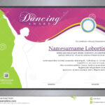 Dancing Award Stock Vector. Illustration Of Competition inside Dance Certificate Template