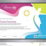 Dancing Certificate Stock Vector. Illustration Of Regarding Dance Certificate Template