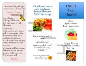Dash Diet Brochure | Nutr 360 Pertaining To Nutrition Brochure Template