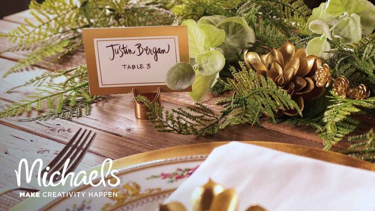 David Tutera™ Gold Place Cards With Regard To Michaels Place Card Template