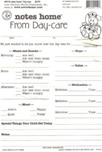 Day Care Infant Daily Report Sheets Printables | Daycare in Daycare Infant Daily Report Template