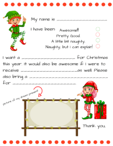 Dear Santa Fill In Letter Template – within Santa Letter Template Word