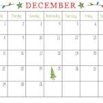 December 2018 Calendar Template Inside Blank Calendar Template For Kids