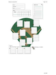Defensive Lineup Card – Fill Online, Printable, Fillable Regarding Dugout Lineup Card Template