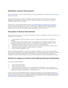 Definition: Sexual Harassment Pertaining To Sexual Harassment Investigation Report Template