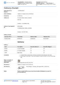 Delivery Docket Template [Better Than Word, Excel, Pdf for Proof Of Delivery Template Word