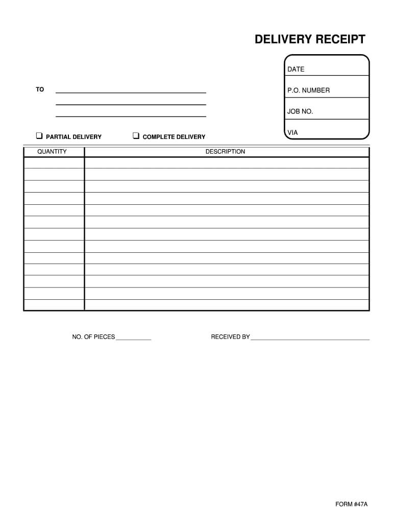 Delivery Forms - Fill Online, Printable, Fillable, Blank For Proof Of Delivery Template Word