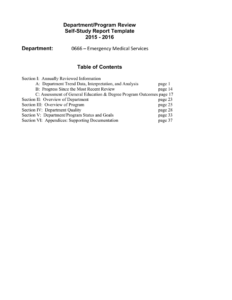 Department/program Review Self-Study Report Template 2015 with regard to Section 37 Report Template