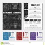 Design Brochures With Technical Drawings Stock Vector Pertaining To Engineering Brochure Templates
