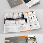 Design Sleek, High End Marketing Tri Fold Brocure For With E Brochure Design Templates